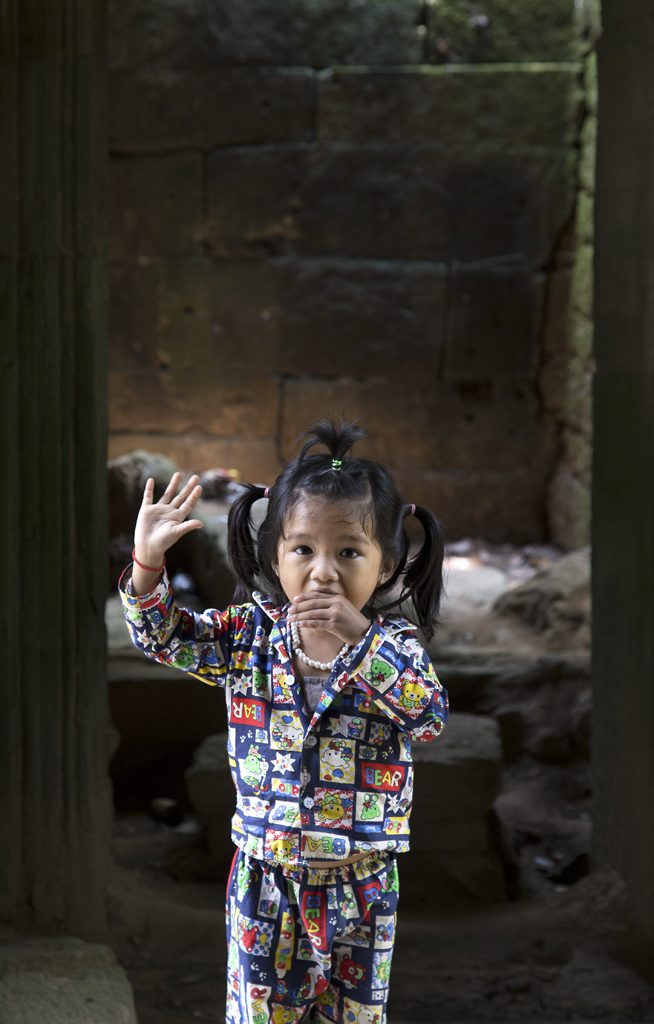 Security Guard's Daughter, Angkor Wat, Cambodia