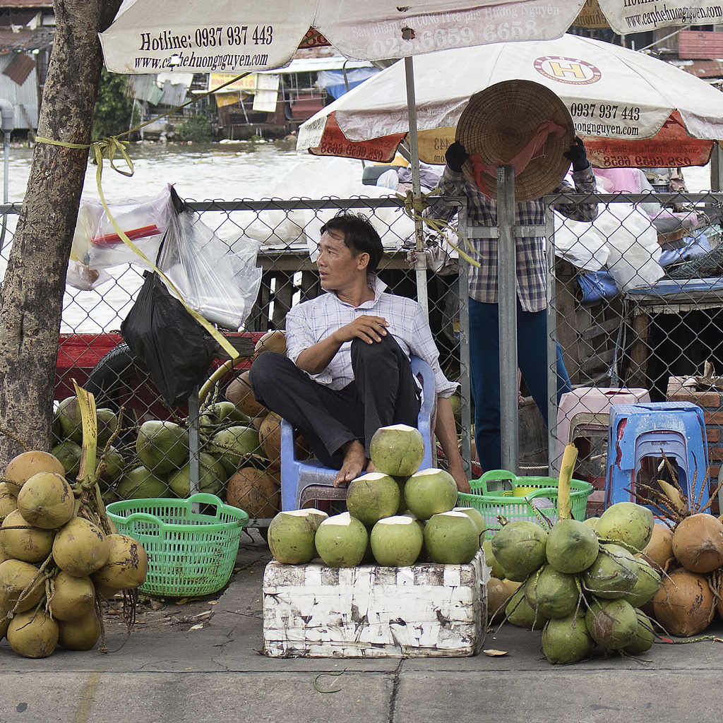 Portrait, Fruit on the River, Saigon, Vietnam