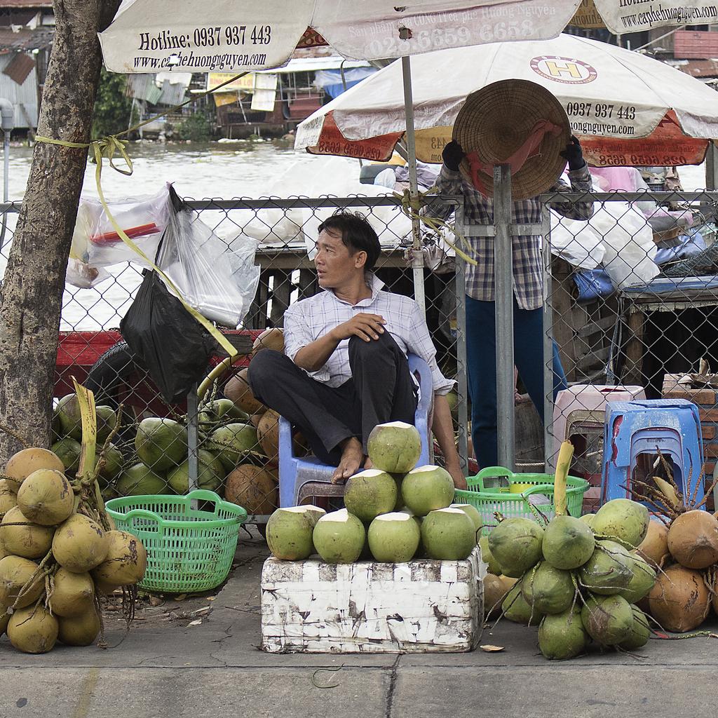 Coconut Sellers, Saigon, Vietnam